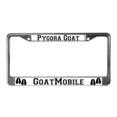 Pygora Goat License Plate Frame