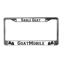 Sable Goat License Plate Frame
