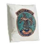 USS EVERETT F. LARSON Burlap Throw Pillow