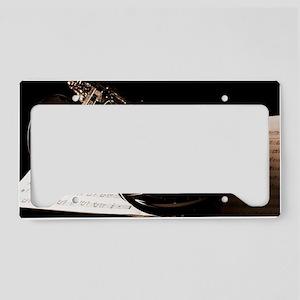 Music-Band-Sax License Plate Holder