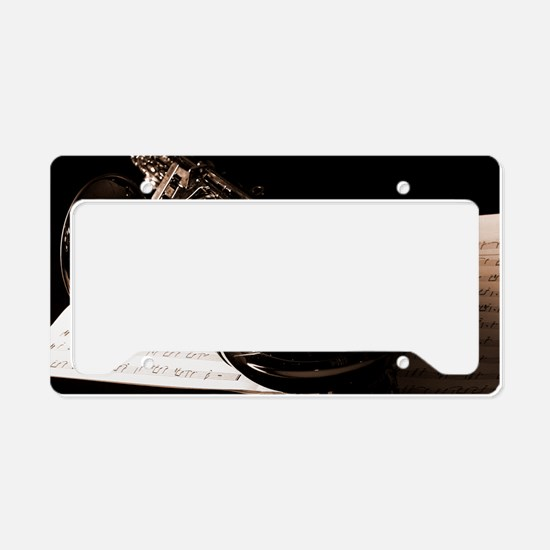 Music-Band-Sax License Plate Holder