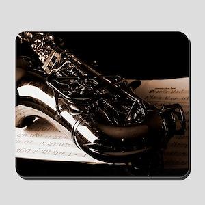 Music-Band-Sax Mousepad