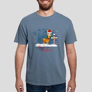 Merry Christmas Llama North Pole T-Shirt