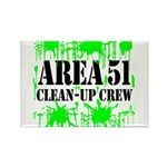 Area 51 Clean-Up Crew Rectangle Magnet