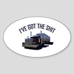 I've Got The Shit Oval Sticker