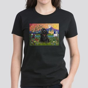 Fantasy Land/Cocker(blk) Women's Dark T-Shirt