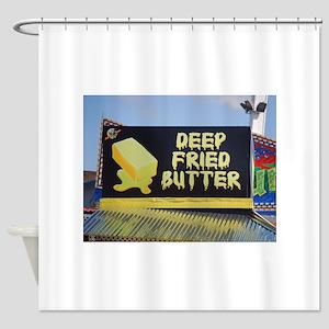 deep fried butter photo Shower Curtain