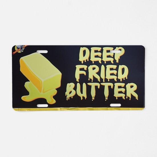 deep fried butter photo Aluminum License Plate