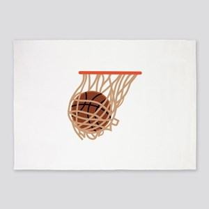 BASKETBALL IN NET 5'x7'Area Rug