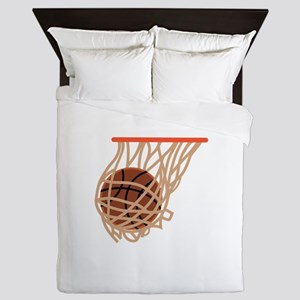 BASKETBALL IN NET Queen Duvet