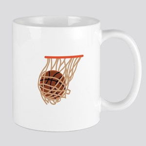 BASKETBALL IN NET Mugs