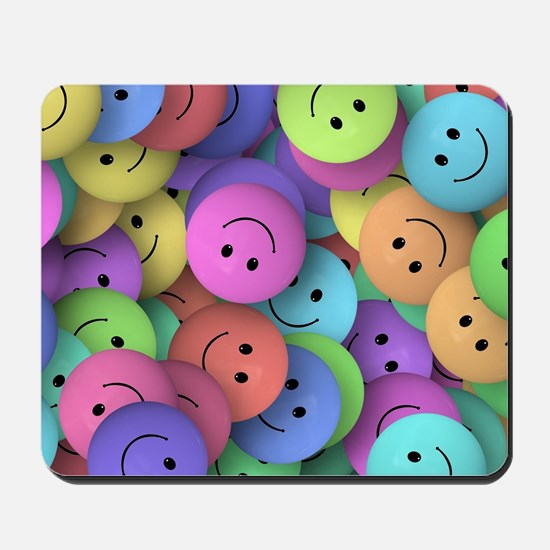 rainbow happy faces art Mousepad