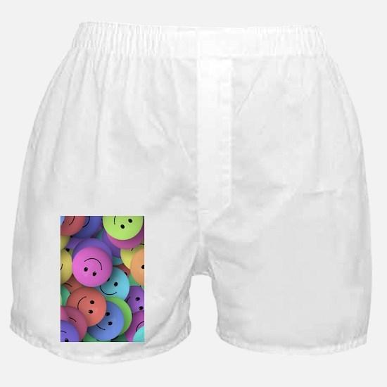rainbow happy faces art Boxer Shorts