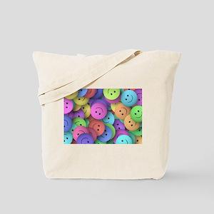 rainbow happy faces art Tote Bag