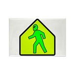 Alien Crossing Rectangle Magnet (100 pack)