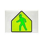 Alien Crossing Rectangle Magnet (10 pack)