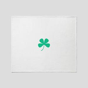 Green Irish Pride Shamrock Rocker fo Throw Blanket