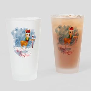 Merry Christmas Llama North Pole Drinking Glass