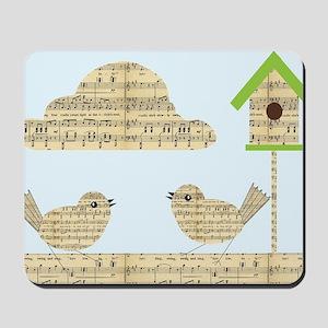 twee birds music notes Mousepad