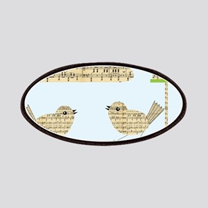 twee birds music notes Patches