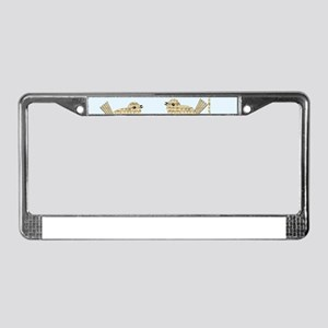 twee birds music notes License Plate Frame
