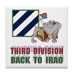 3ID Back To Iraq 1 - Tile Coaster