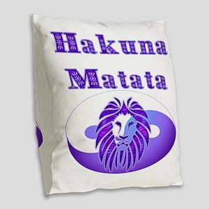 Hakuna Matata Burlap Throw Pillow