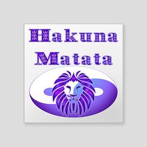 """Hakuna Matata Square Sticker 3"""" x 3"""""""