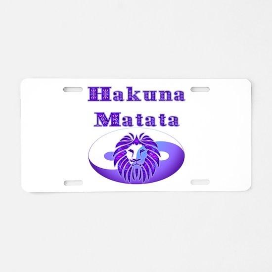 Hakuna Matata Aluminum License Plate