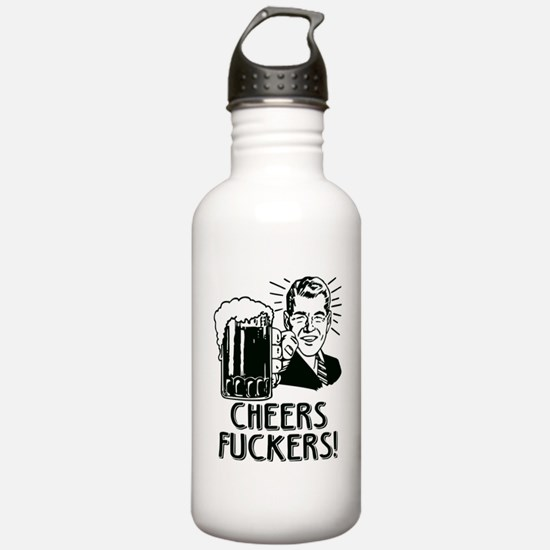 Cheers Fuckers Irish D Water Bottle