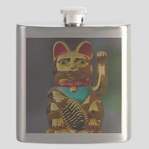 asian waving cat maneki neko Flask