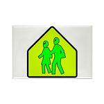Alien School Xing Rectangle Magnet (100 pack)