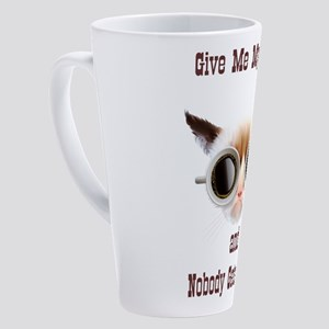 Grumpy Coffee Cat 17 oz Latte Mug