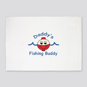 DADDYS FISHING BUDDY 5'x7'Area Rug