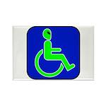 Handicapped Alien Rectangle Magnet (100 pack)