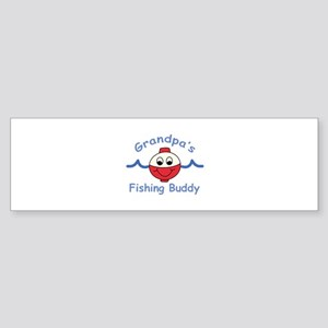 GRANDPAS FISHING BUDDY Bumper Sticker