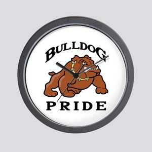 BULLDOG PRIDE Wall Clock