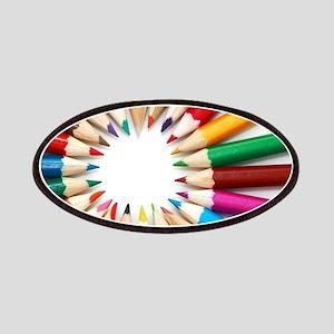 rainbow art pencils pastels Patches