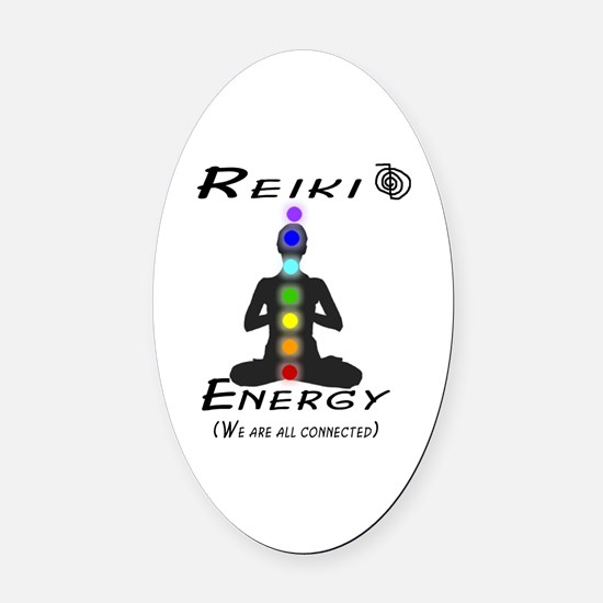 Reiki Energy All Connected Oval Car Magnet