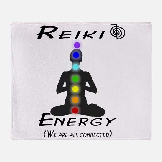 Reiki Energy All Connected Throw Blanket