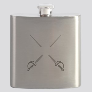 SPLIT CROSSED SWORDS Flask