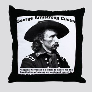 Custer: Humiliation Throw Pillow