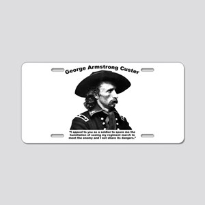 Custer: Humiliation Aluminum License Plate