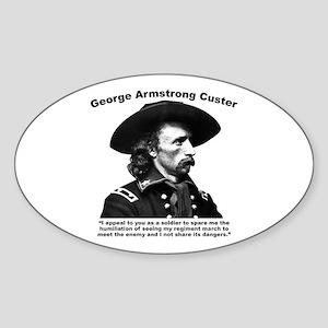 Custer: Humiliation Sticker (Oval)