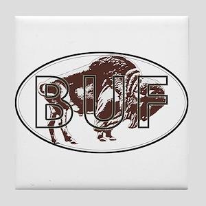 Love Buffalo Tile Coaster
