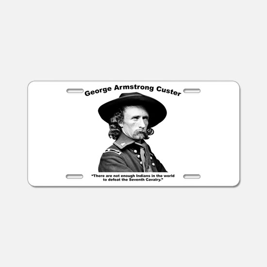 Custer: Defeat Aluminum License Plate