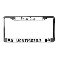 Pack Goat License Plate Frame