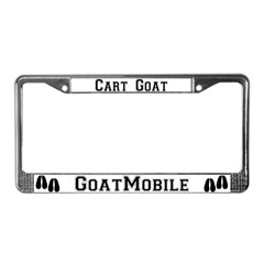 Cart Goat License Plate Frame