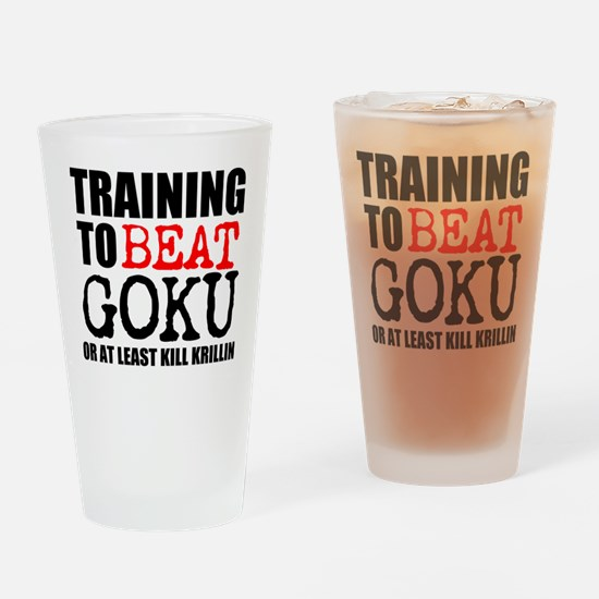 TRAINING TO BEAT Drinking Glass