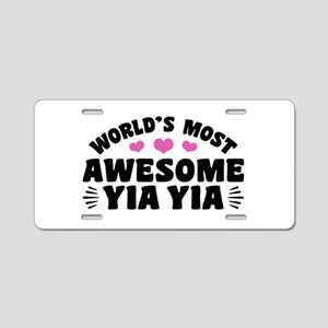 World's Most Awesome Yia Yi Aluminum License Plate